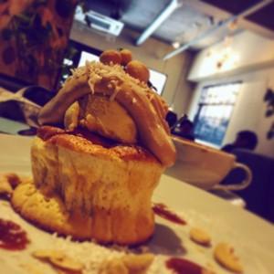 川越・パンケーキ・トップシークレットカフェ・カフェラテ・pancake