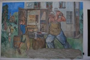 鍛冶屋の親子・チビアーナ・イタリア・カギのルーツ・俺の合鍵・カギ番号・鍛冶屋・壁画・新カギ